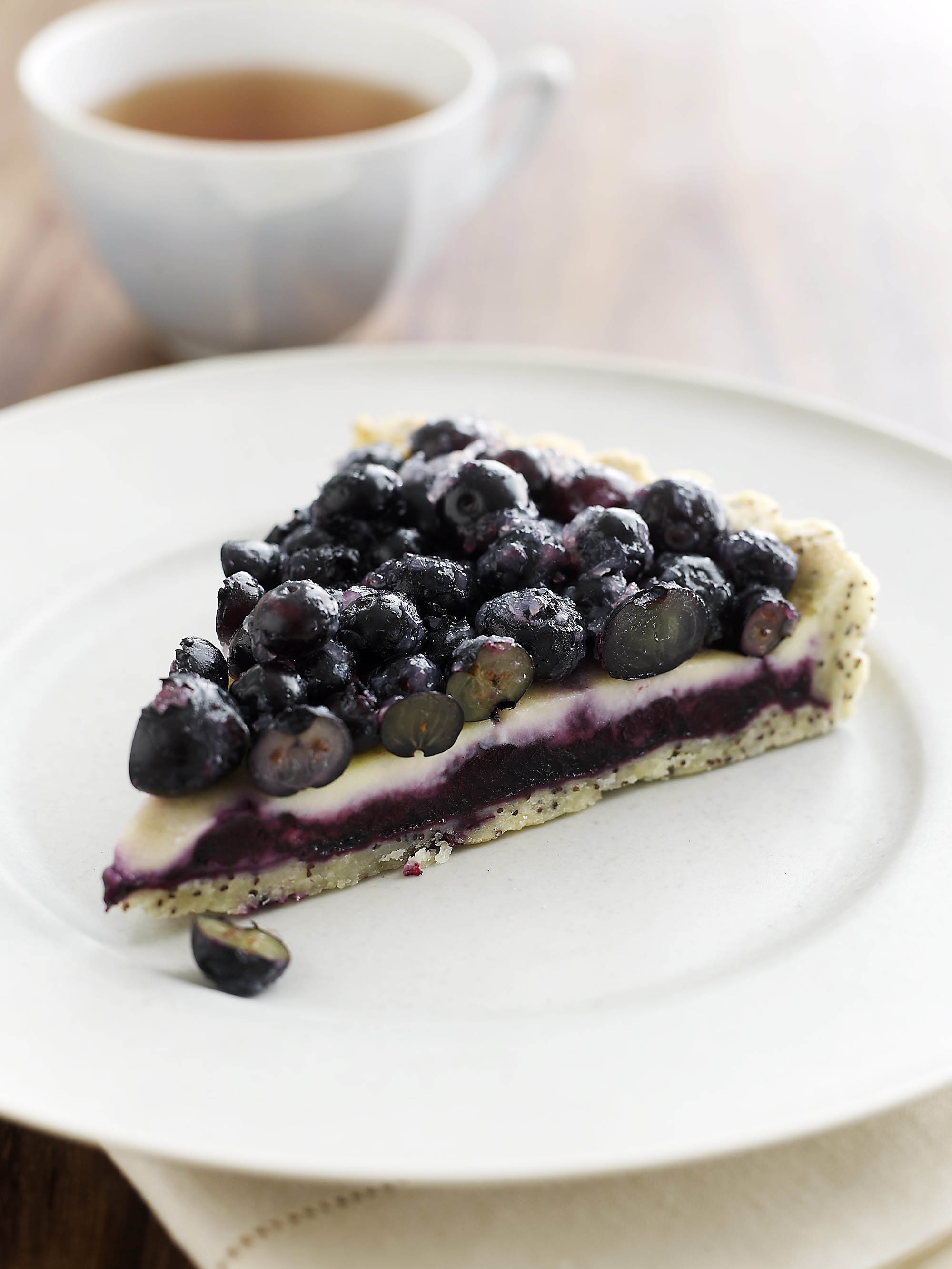Blueberry Crème Fraiche Tart with Poppy Seed Crust