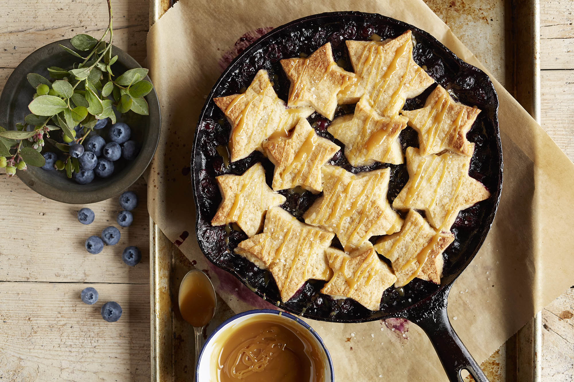 Blueberry Salted Caramel Cobbler Recipe