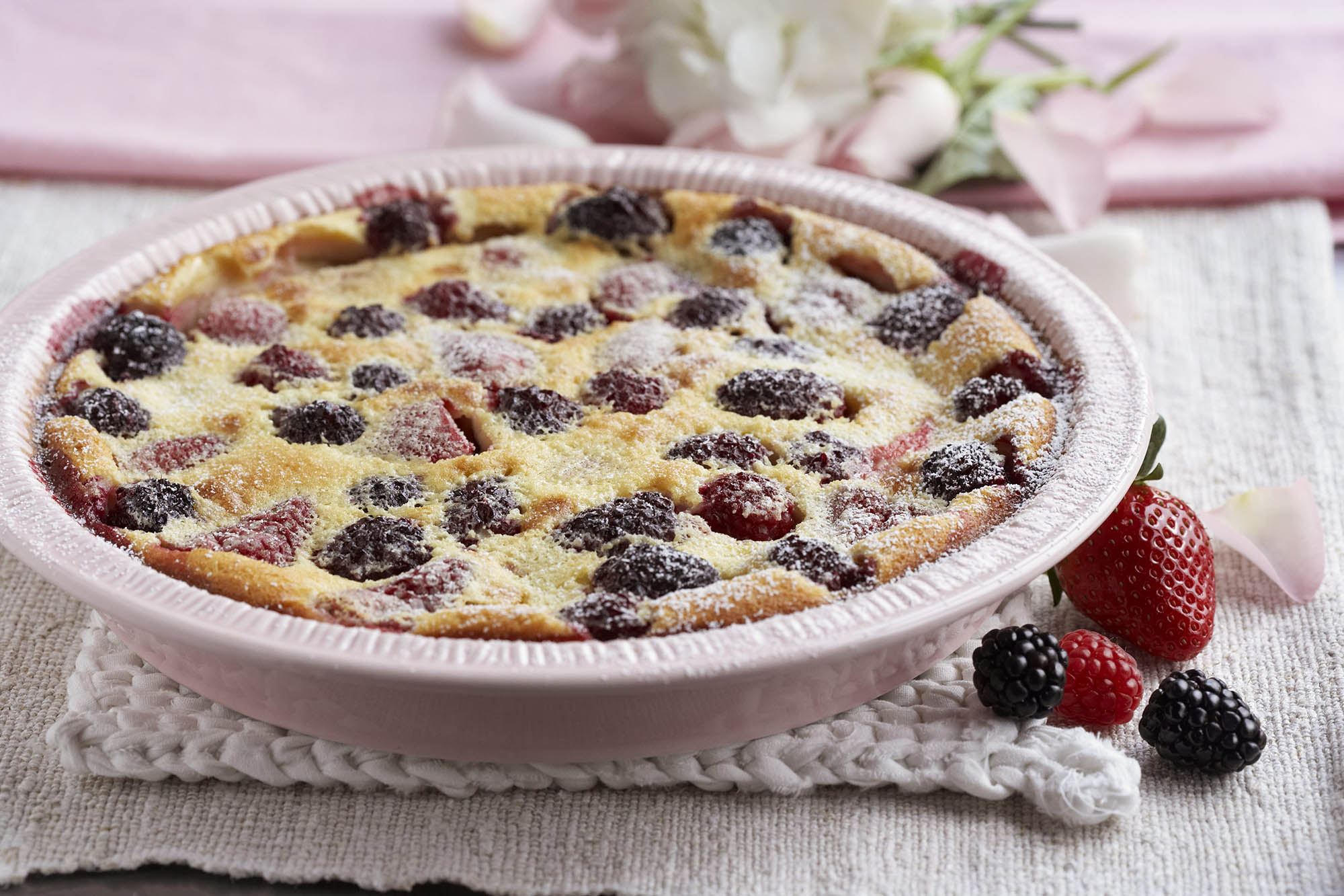 Mixed Berry Clafouti