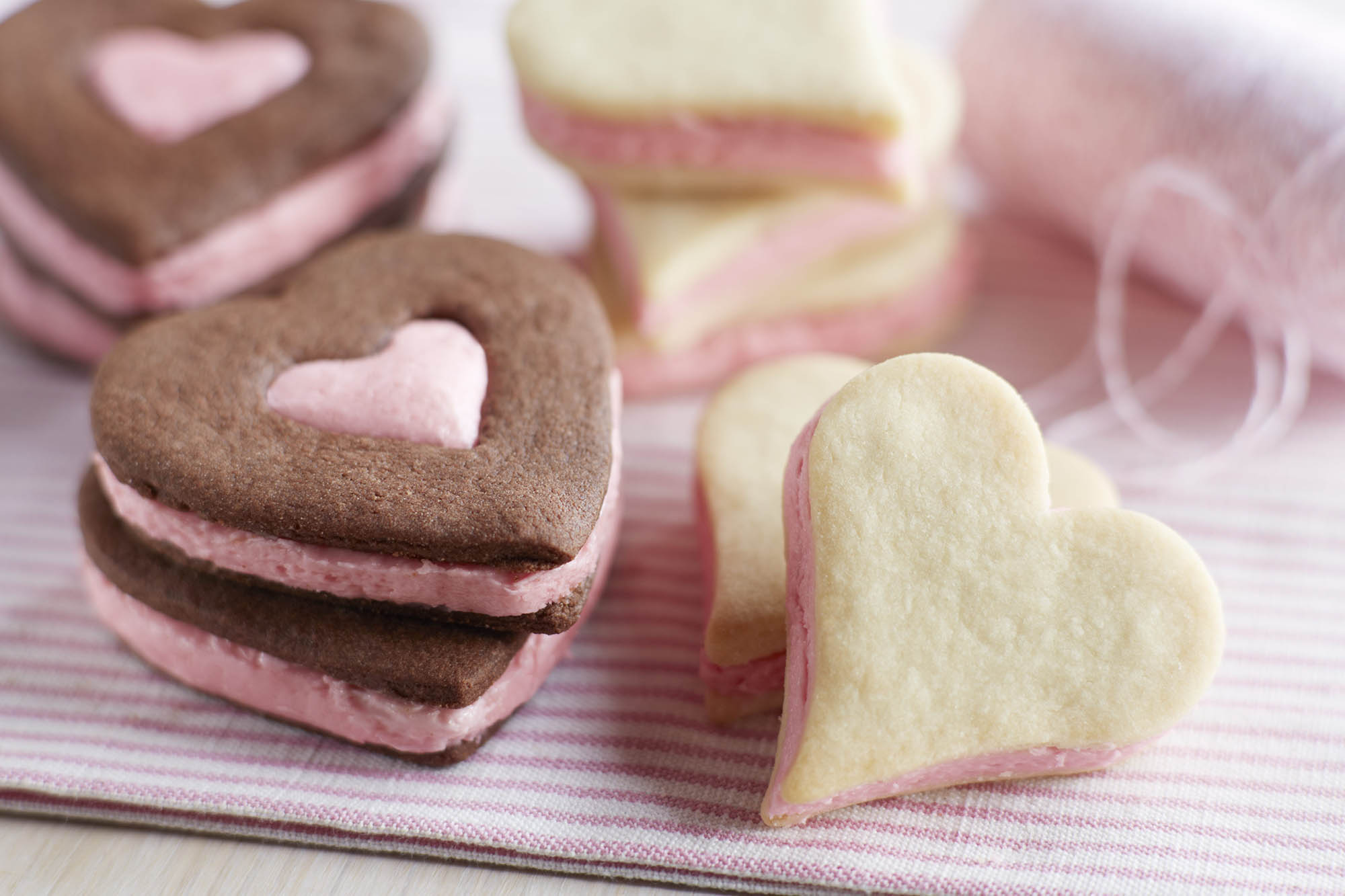 Raspberry Buttercream Shortbread Cookies