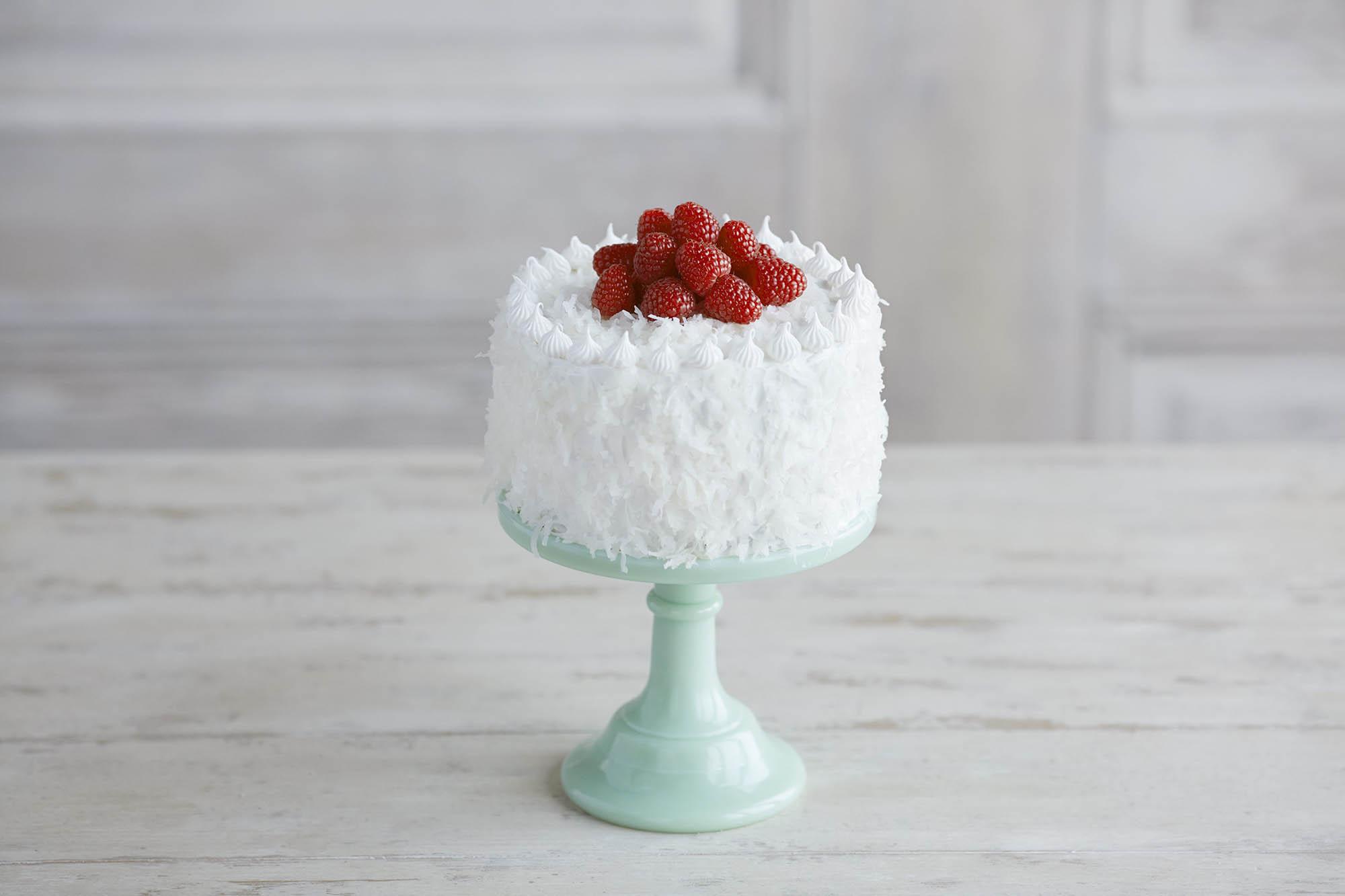 Raspberry Coconut Mini Cake