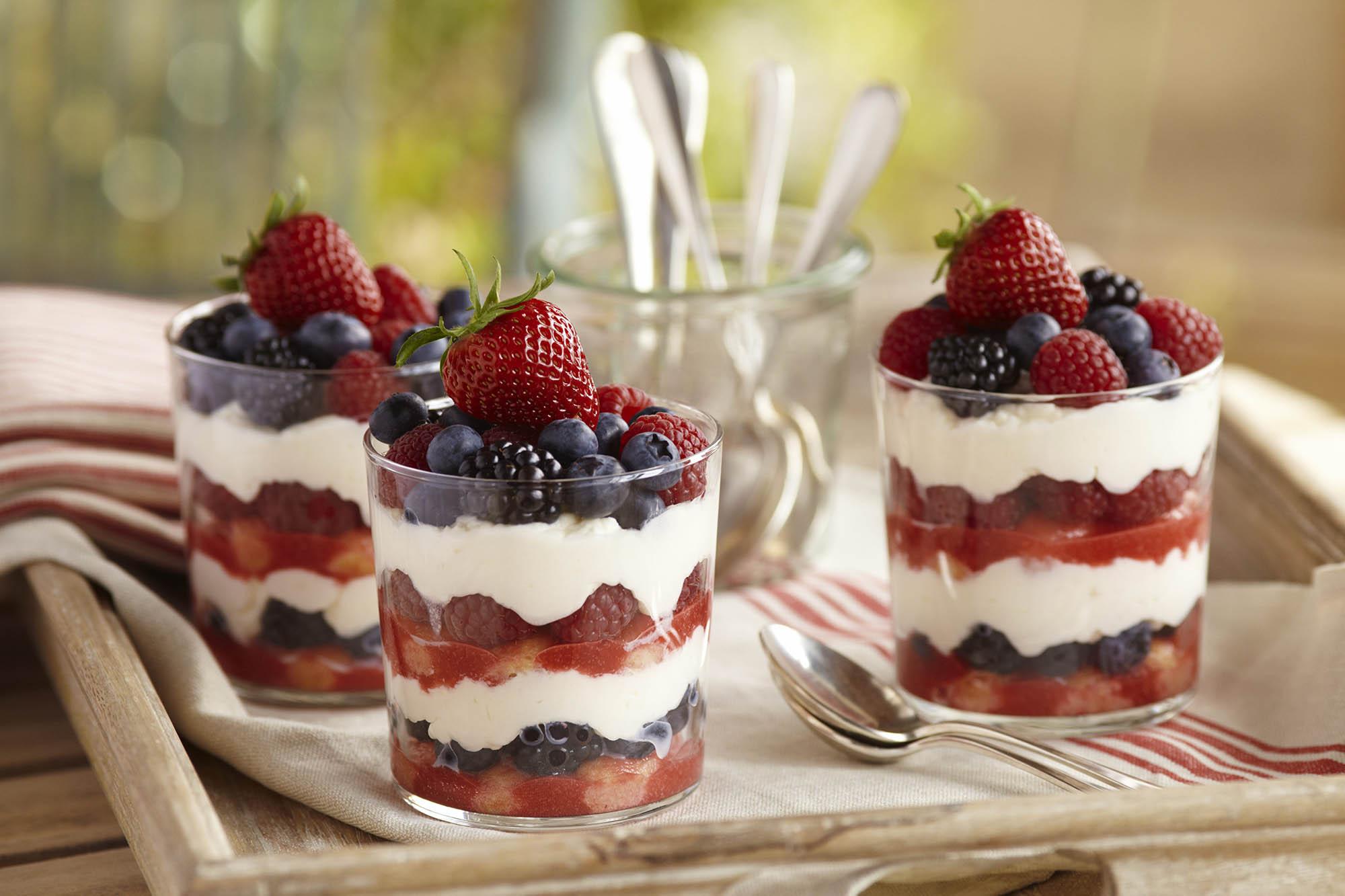 Tiramisu Mixed Berry Trifle